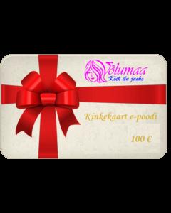 Kinkekaart e-poodi 100 €