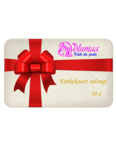 Kinkekaart salongi teenustele 50 €